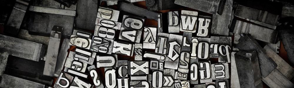 casse métallique typographie stappler